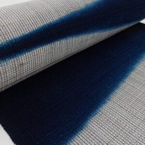 板締め藍染帯
