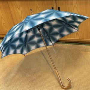 雪花絞り・日傘「青緑」